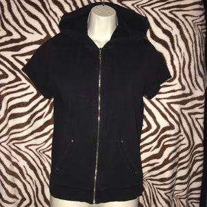 Style & co Petite sport PL short sleeved hoodie